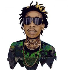 Whiz Khalifa art #art, Anna Wintour, G-Dragon, illustration, LeBron James, mago, Mago Dovjenko, michael jackson art, russian art, russian illustrator