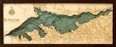 Big Bear Lake | California Wood Map