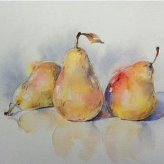 Ideas fruit watercolor pictures for 2019 Watercolor Fruit, Fruit Painting, Watercolor Artists, Watercolor Artwork, Watercolor Techniques, Watercolor And Ink, Watercolor Illustration, Watercolor Flowers, Watercolor Journal