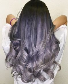 How beautiful! Smoky lavender with a gorgeous shadow base by @kimwasabi #hotonbeauty . . . . . #hairpainting #smokyhair #lavenderhair #purplehair #purplehaircolor