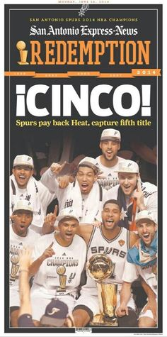 Spurs. Front page newspaper