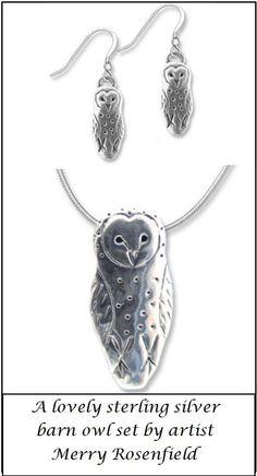 Owl Necklace, Barn owl necklace, owl jewelry, unisex owl necklace ...