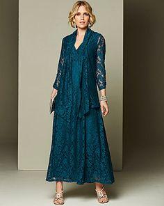 Nightingales Lace Maxi Dress and Shrug | J D Williams