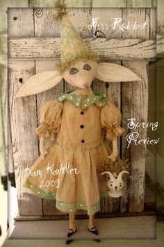 Veenas Mercantile Primitive Doll Patterns By Artist Kim Kohler