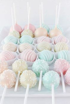 45 Creative Non-Traditional Wedding Dessert Ideas Pastel-colored Cake . - 45 Creative Non-Traditional Wedding Dessert Ideas Pastel-colored cake pops for the weddi - Pastel Cakes, Colorful Cakes, Colorful Desserts, Pastell Party, Cute Food, Yummy Food, Kreative Desserts, Different Types Of Cakes, Beaux Desserts