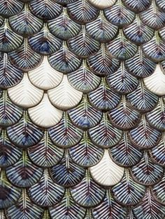 Plumage mosaic tiles