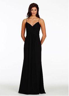 Elegant Chiffon Spaghetti Straps Neckline Floor-length Sheath Bridesmaid Dress