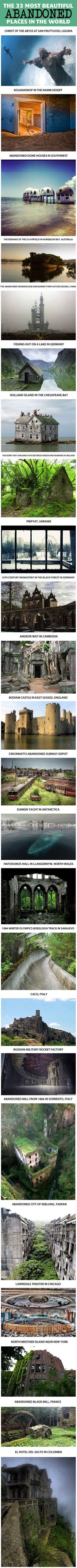 33 abandoned places..