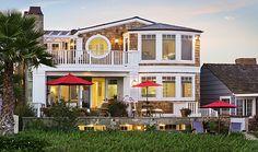 Cape Cod oceanfront architecture on the sand in Newport Beach | Brion Jeannette Architecture | Newport Beach California | Energy Conscious Design |
