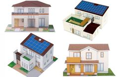 4 Simple Japanese House Paper Models Free Templates Download - http://www.papercraftsquare.com/4-simple-japanese-house-paper-models-free-templates-download.html#BuildingPaperModel, #House