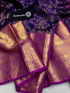 wedding - Over / 4 Stars & Up / Sarees / Ethnic Wear: Clothing & Accessories Kanjivaram Sarees Silk, Blue Silk Saree, Indian Silk Sarees, Kanchipuram Saree, Soft Silk Sarees, White Saree, Bridal Sarees South Indian, Wedding Silk Saree, Desi Wedding