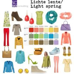 Lichte lente/ Light spring color type.