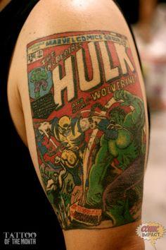 superhero tattoos   Great Job Aaron: Superhero Tattoos