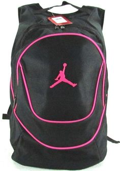 Nike Air Jordan Black Backpack School Book Gym Day Bag Laptop ...