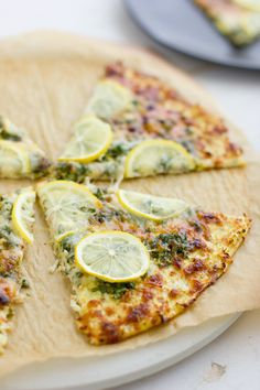 Lemon Gremolata Pizza with Cauliflower Crust #dinner #pizzaparty #glutenfree