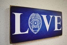 Love Police Family painted canvas
