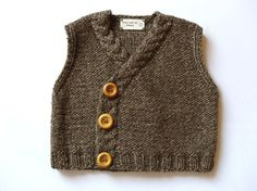 Baby Tweed Vest- Eco Friendly- pure merino extrafine and alpaca extrafine. $48.00, via Etsy.