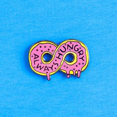 always hungry doughnut pin enamel pin lapel pin by dannybrito