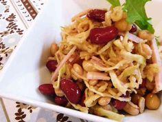 食物繊維たっぷり♪切干大根とお豆のサラダの画像