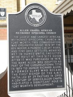 Allen Chapel AME Church is a historic church at the corner of First Street and Elm Street in Fort Worth, Texas. Built at a cost of $20,000 it is the oldest and largest African Methodist Episcopal church in Fort Worth. The church established the first private schools for African-Americans.
