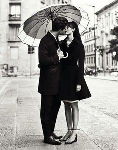 Sam Rollinson for Elle Ukraine September 2012 // kissing in the rain