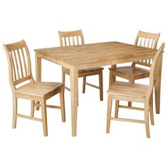 Threshold  Winfield 5 Piece Dining Set   Natural