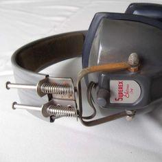 vintage headphones by SASSYspaces on Etsy - StyleSays