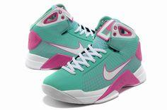 half of Hyperdunk 2012 Nike Hyperdunk TB 2012 Womens Hyperdunks Pink Lime Green