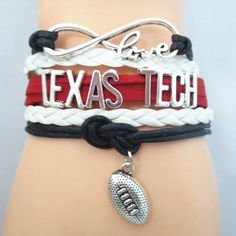 Infinity Love Texas Tech Football - Show off your teams colors! Cutest Love Texas Tech Bracelet on the Planet! Don't miss our Special Sales Event. Many teams available. www.DilyDalee.co