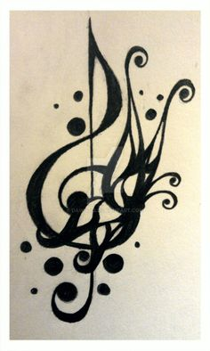 Tattoo Design - Treble Clef 2 by Dawn773 on @DeviantArt