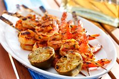 CanolaInfo | Recipes & Cooking | Spicy Mexican Shrimp Skewers | Nathan Fong | These shrimp are flavored in a zesty tequila, garlic, lime and chile marinade.