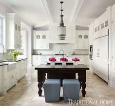 Classic Kitchen Tailored for Entertaining   Traditional Home