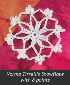 Two months ago, Sara asked if I might be able to work with a snowflake pattern her husband's grandmother had written and make it bigger.  S...