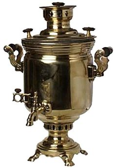 Russian Samovar: Russians will make a very potent pot of tea and keep it in a china teapot on top of the samovar.  Then when guests are served, they combine the strong tea with the boiling hot water kept hot in the  samovar.  It helps to stretch the amount of tea served.