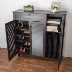 Compare Wholesale Interiors Baxton Studio Pocillo Wood Shoe Storage Cabinet prices online and save money. Find the lowest price on your favorite Wholesale Interiors Baxton Studio Pocillo Wood Shoe Storage Cabinet now. Wood Shoe Storage, Entryway Shoe Storage, Diy Shoe Rack, Wood Storage Cabinets, Storage Shelves, Tall Cabinet Storage, Locker Storage, Shoe Cabinet Entryway, Shoe Cabinet Design