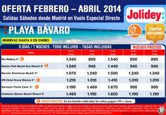 Oferta Playa Bávaro, Febrero-Abril, salidas Sábados desde Madrid ultimo minuto - http://zocotours.com/oferta-playa-bavaro-febrero-abril-salidas-sabados-desde-madrid-ultimo-minuto/