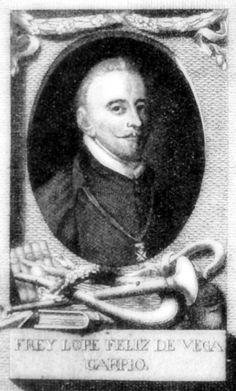 Lope de Vega (1562-1635), uno de los más importantes poetas y dramaturgos del Siglo de Oro español y uno de los autores más prolijos de la literatura universal, en un grabado de la Colección Gráfica (Munich). #miercolesretratos #EnciclopediaLibre (Public Domain)