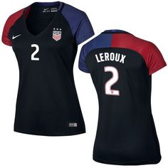 Sydney Leroux US Soccer Nike Women's Away Replica Stadium Jersey - Black - $119.99