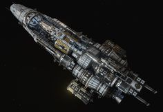 http://fracturedspace.com/ - Now free to play!  Had some time to update one of my older ships due to having to add more turret platforms to it, so I gave it a general polish pass on top. Tri count was also reduced by 20k.