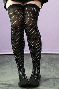Opaque Mini Polka Dots Stockings