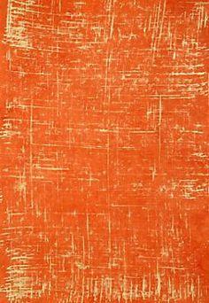Brush Stroke Gold on Bright Orange Fine Paper