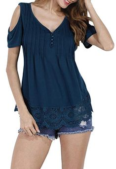 d3b98356 URBANCLEO Womens V-Neck eLong Tunic Top Mini T-shirt Dress PLUM SMALL. See  more. Material:Lace and Cotton. V-Neck,Long Sleeve,A-Line