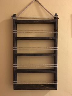 Five shelf wooden hanging spice rack. Available in multiple color options and stains. shelves are apart. Custom sizes available! Please just message us! Build A Spice Rack, Hanging Spice Rack, Wall Spice Rack, Diy Spice Rack, Spice Shelf, Spice Storage, Spice Rack Holder, Wooden Spice Rack, Kitchen Organization