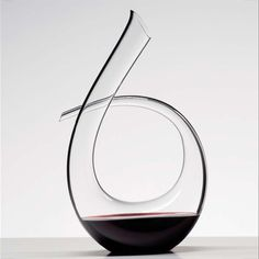 "Riedel Glassware's, ""Black Tie Decanter""...handmade work of art and statement piece"