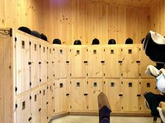 Lockers are a good alternate to tack trunks (frees up aisle space). These are a good size to keep things like boots and personal saddle pads while keeping larger items like saddles in the tack room and blankets by the stalls.