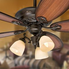 Ceiling fan sizing guide the general rule of thumb to keep in mind prestige by hunter crown park tuscan gold downrod or close mount ceiling mozeypictures Images