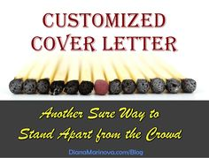 Customized Cover Letter - A Sure Way to Stand Apart from the Crowd | Diana Marinova