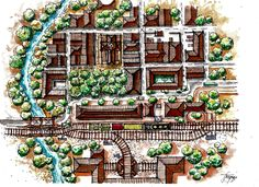 Planteamiento Urbano -Rural Autor : Jeison González Patiño  Ferrocarril Mano alzada - Acuarela-Sketch