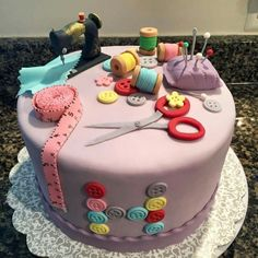 Great sewing club cake