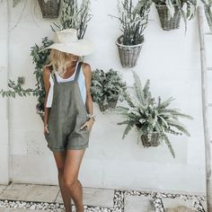 The Ollie Jumpsuit, Linen Overall by LJCdesigns - 17 DIY Clothes Boho summer ideas Boho Fashion Summer, Winter Fashion, Summer Outfits, Cute Outfits, Easy Outfits, Fresh Outfits, Overalls Outfit, Fashion Outfits, Fashion Trends